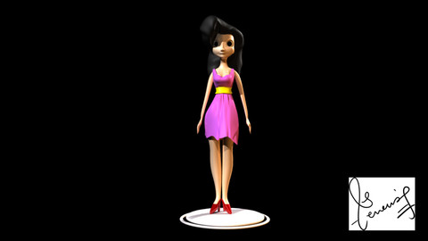Stylized Female Character (Maya Character Modelling)