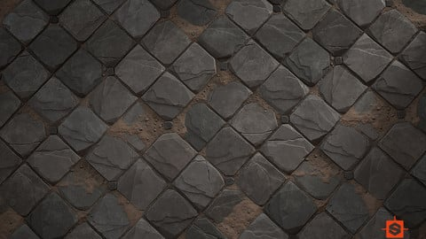 Stylized Stone Path - Substance Material