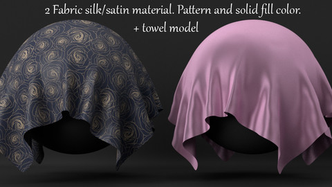 Procedural Silk, satin cotton material for Blender 3D.