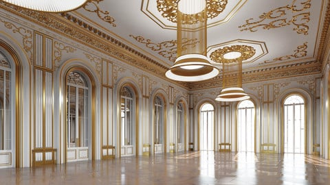 Classic Interior Scene 335 3D
