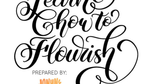 LEARN HOW TO FLOURISH CALLIGRAPHY WORKSHEET