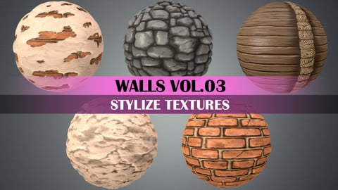 Stylized Walls VOL.03 - HAND PAINTED TEXTURE PACK