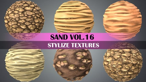 Stylized Sand Vol.16 - Hand Painted Texture Pack