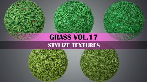 Stylized Grass Vol.17 - Hand Painted Texture Pack