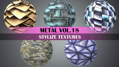 Stylized Metal Vol.18 - Hand Painted Texture Pack