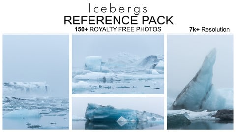 Reference Pack - Icebergs - 150+ Royalty Free Photos