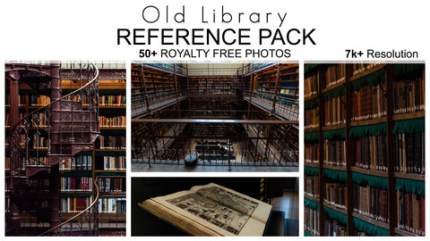 Free Reference Pack - Old Library  - 50+ Royalty Free Photos