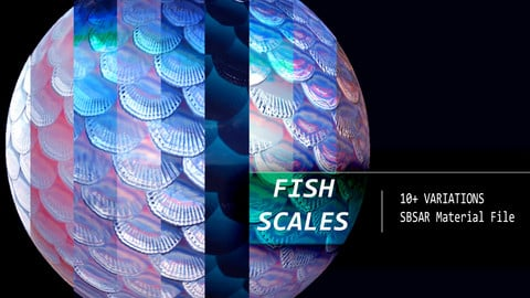 Fish Scales Material - Substance Designer