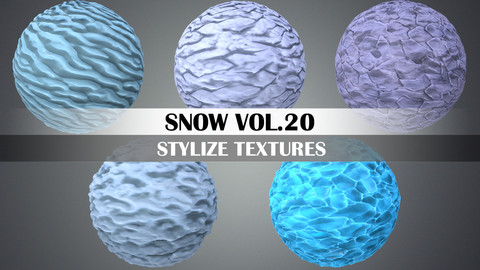 Stylized Snow Vol.20 - Hand Painted Texture Pack