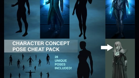 Character Concept Art Pose Cheat Pack