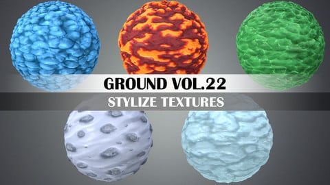Stylized Ground Vol.22 - Hand Painted Texture Pack