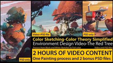 Color Sketching Tutorial-Simple Color