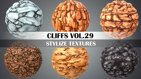 Stylized Cliffs Vol.29 - Hand Painted Texture