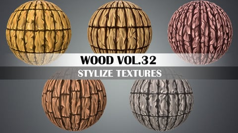 Stylized Wood Vol.32 - Hand Painted Texture