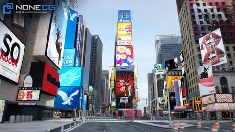 NYC Broadway,7th Av, Times Square