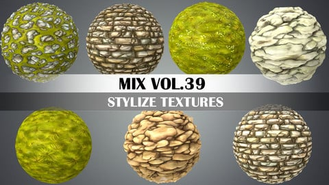 Stylized Ground Mix Vol.39 - Hand Painted Texture Pack