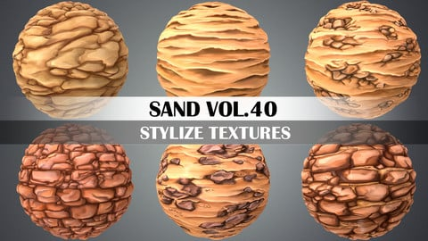 Stylized Sand Vol.40 - Hand Painted Texture Pack