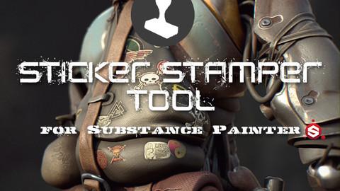 Sticker Stamper Tool for Substance Painter