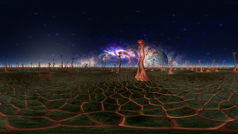 Giant Mushrooms 02 (360 degrees panorama backgrounds 10000x5000 pixels)