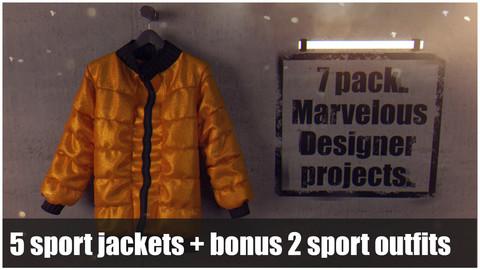 7 pack. Marvelous designer (Clo3d) projects
