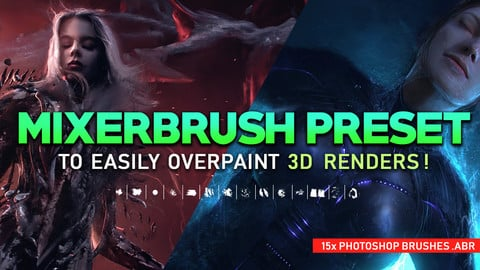 15 Mixerbrush brushes for Photoshop