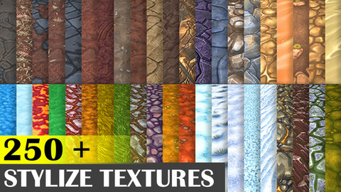 Hand Painted Texture Mega Bundle 250+