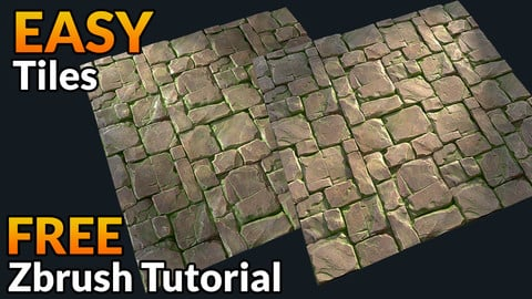 EASY tiles - FREE Zbrush Arraymesh tutorial