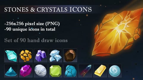 Stones&Crystals icons