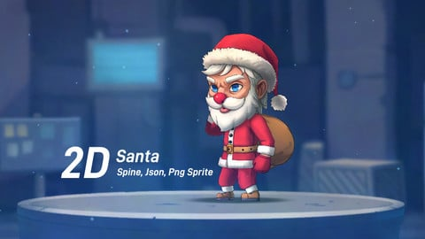 2D Chibi Santa Game character (Spine)