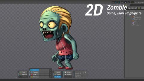 2D Chibi Zombie Girl