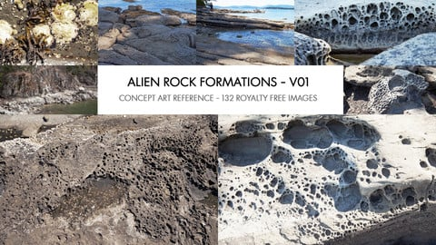 ALIEN ROCK FORMATIONS - V01 - PHOTO REFERENCE