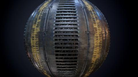 Sci-Fi Military Seamless PBR Texture 45
