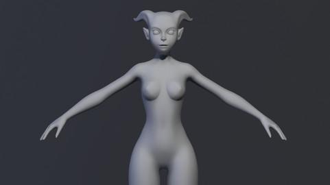 Stylized Demon/Tiefling BaseMesh