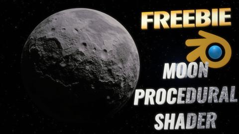FREE MOON PROCEDURAL SHADER // BLENDER 2.80