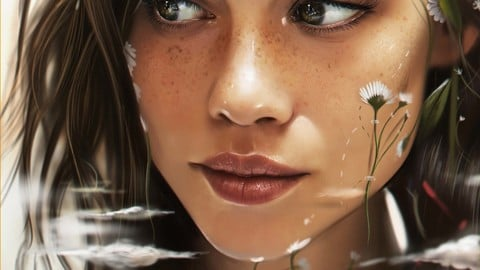 Portrait Illustration Process + 5 Full size Illustration files