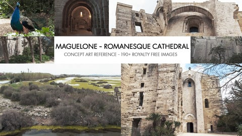 MAGUELONE - ROMANESQUE CATHEDRAL - PHOTO REFERENCE