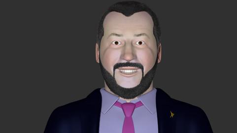 Modello 3D di Matteo Salvini STAMPABILE con una STAMPANTE 3D