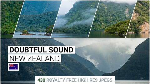Doubtful Sound   Matte Painting / reference / photobash pack