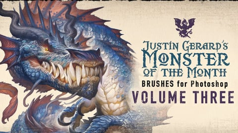 Justin Gerard's Monster-of-the-Month Brush Sets: VOLUME THREE