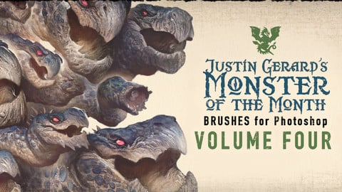 Justin Gerard's Monster-of-the-Month Brush Sets: VOLUME FOUR