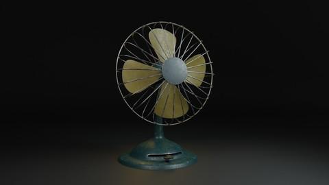 Vintage Fan Low Poly  PBR 3D Model