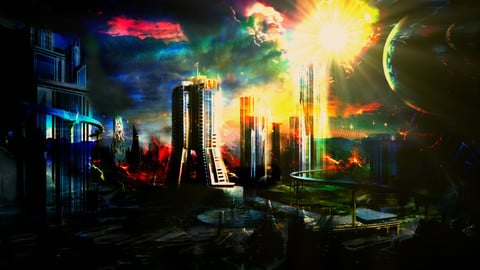 Concept Art - Science Fiction - landscape - sci-fi - Digital painting - game art - photo manipulation - environment