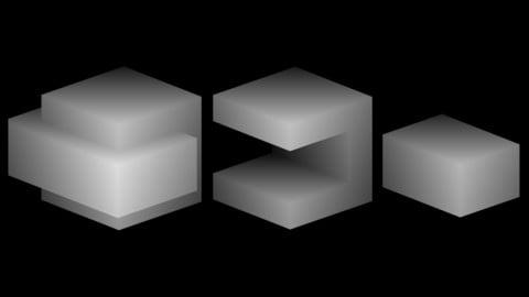 3D Cube Boolean Substance Nodes