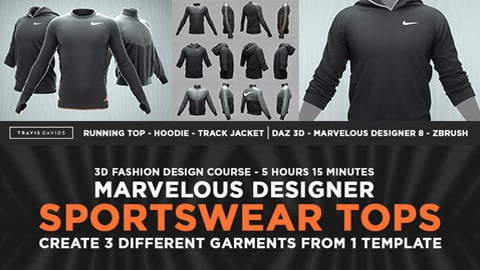 Sportswear Tops - 3D Fashion Design Course