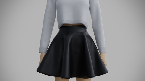 3d skater outfit - sweater and skirt
