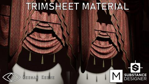 Drapery Trimsheet Material