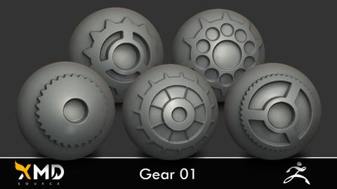 XMD ZBrush Brushes - Gear 01