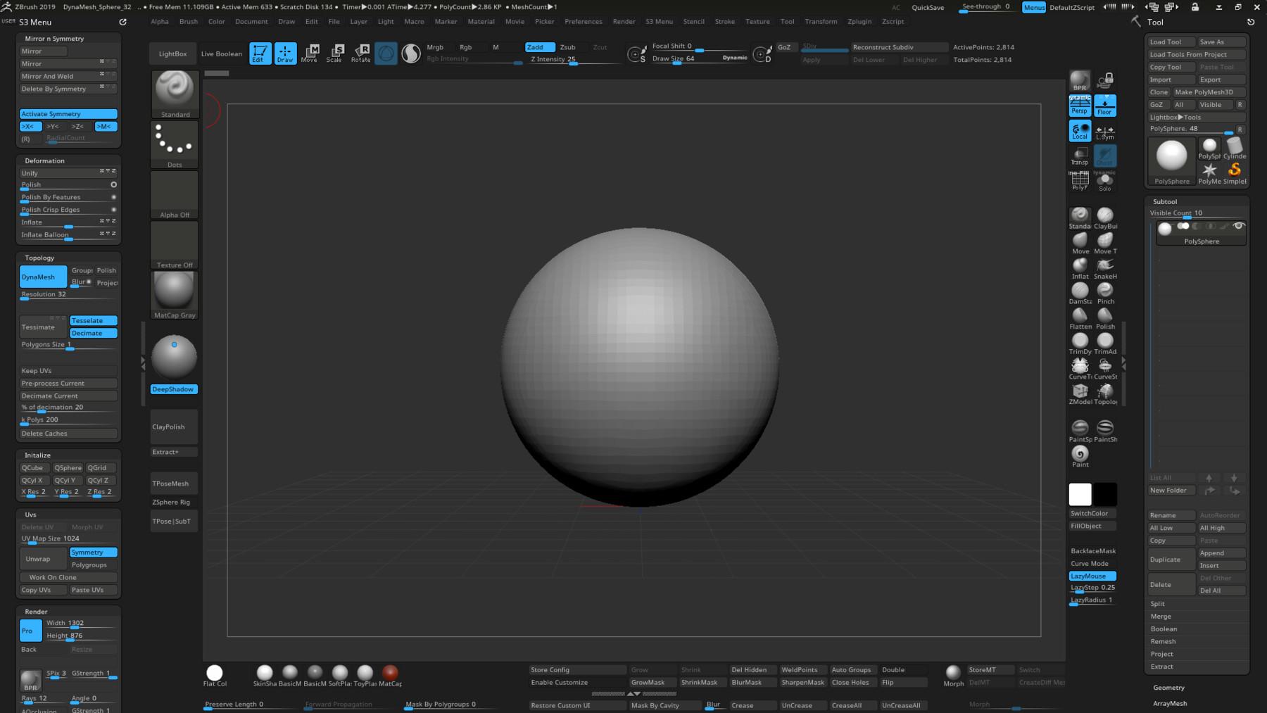 ArtStation - [Custom UI] My Custom User Interface for Zbrush