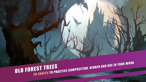 Old Forest Trees - 2D assets