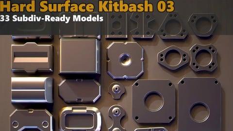 Hard Surface Kitbash 03 - Subdiv-Ready